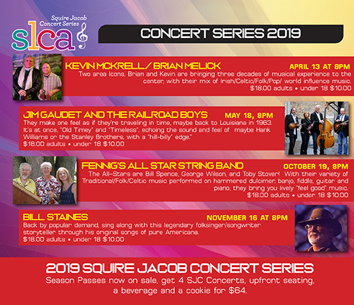 Squire Jacob Concert Series – Sand Lake Center for the Arts
